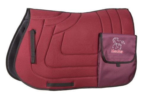 TRAIL saddle pad with pockets - low padding